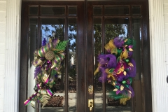 Mardi Gras door wreaths