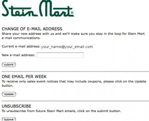 Email Marketing: Unsubscribe Options